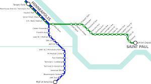 Twin Cities Light Rail Map List Of Metro Minnesota Light Rail Stations Wikipedia