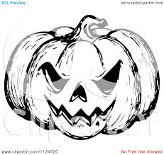 Clipart Of A Sketched Black And