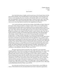 gun control essays sample english essay summary on gun control essay against gun control view larger