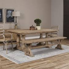 grey wash dining table. Gamble Rustic Lodge Reclaimed Fir Stone Wash Dining Table | Kathy Kuo Home Grey I