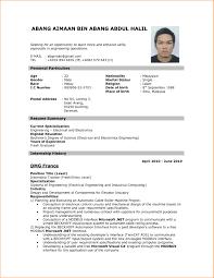 Example Resume For Job Application 9 Resume Format Applying For