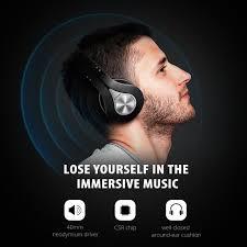 Tai nghe không dây Bluetooth Mpow, Có thể Gấp, Bộ nhớ Earmuffs Bộ nhớ Nhỏ,  với Mic và Chế độ Có dây dành cho PC / ĐTDĐ / TV