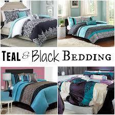 winsome design teal and black comforter bedding sets chevron white set queen dark