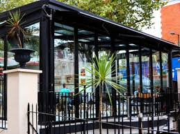 retractable roof bifold doors in cafe laville london
