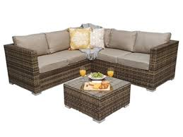 rattan 4 seater corner sofa sets