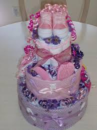 Designer Diaper Cakes Designer Diaper Cakes Girl Basic Diaper Cake