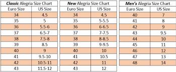 Alegria Size Chart Clearance Seville Spiro Multi