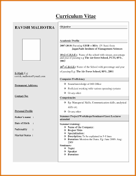 Cv Format Pdf For Freshers Letter Format Business