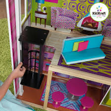 Kidkraft Bedroom Furniture Kidkraft Super Model Wooden Dollhouse With 11 Pieces Of Furniture