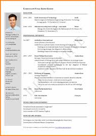 Indian Resume Format Cfo Resume Template Fresh Cv Resume Format