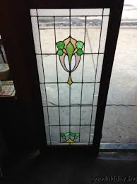 antique chicago stained leaded glass cabinet door window this windows has 6 pieces for glass with s one piece has shattered glass