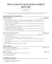 Hospitality Resume Templates Awesome Hospitality Resume Template Management Sample Cv For Industry