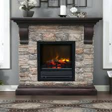 electric stone fireplace mantel castlecreek heater tv stand