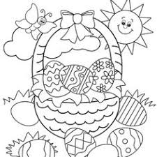 printable easter coloring pages. Perfect Coloring Coloring Easter Pages Free For Kids With Bunny  Colouring Basket With Printable U