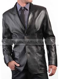 patch pocket men s leather blazer 206 00 166 00