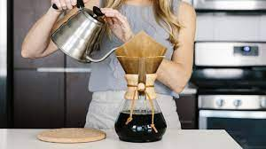 For a standard chemex, for instance, that would be about 6 tablespoons (55 grams) of coffee, and 750 ml of water. Chemex 101 Brewing Tips And Advice From A Coffee Novice Downshiftology