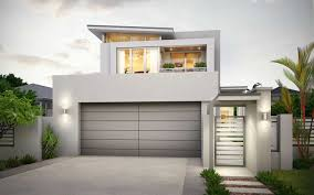 2 story house plans with garage underneath awesome narrow block fair