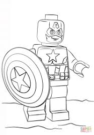 Capitan America Lego Da Colorare Disegno Di Capitan America