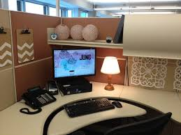 Office:Simple Office Cubicle Decorating Ideas With Mural Wallpaper Girly  Cubicle Decorating Ideas With Unique