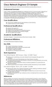 It Security Specialist Sample Resume Enchanting Cisco Network Engineer CV Sample MyperfectCV