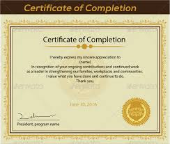Certificates Of Completion Templates Sample Certificate Of Completion 25 Documents In Vector Eps Psd