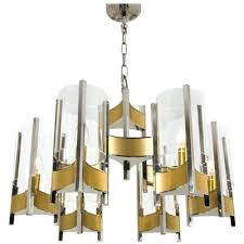 chrome and glass chandelier nine light by for teardrop