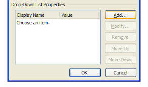 How To Add A Drop Down Box In Word Inserting A Dropdown List Control Into Your Template Controls