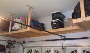 image of build your own garage ceiling storage wooden