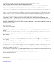 Free Resume Cover Letter Builder Sugarflesh