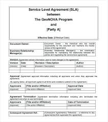 Sample Agreement Free Service Level Template Strand – Ilford