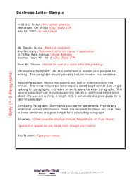 Business Letter Sample Word 23 Printable Business Letter Format Templates Fillable