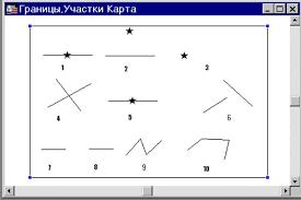 ПРАКТИКУМ ПО ВНУТРИХОЗЯЙСТВЕННОМУ ЗЕМЛЕУСТРОЙСТВУ  Это изображение содержит 10 графических фрагментов на косметическом слое которые будут использоваться при выполнении линейных построений