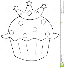 Small Picture Cupcake Coloring Page Stock Illustration Image 52086834