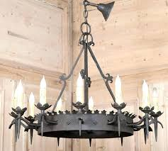 wrought iron chandeliers vintage chandelier black rod chain chand