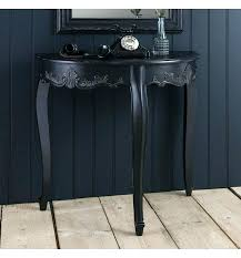 black half moon table black half moon table sophisticated half round console table and mirror with