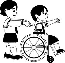 イラストポップ 学校のイラスト 総合学習no23車椅子体験の無料素材