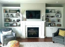 built in shelves around fireplace for bedroom walls ideas luxury tv she