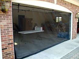 image of retractable garage door screens and enclosures