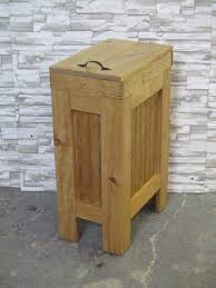 kitchen island with trash bin double tilt out country