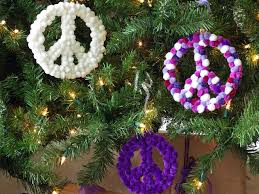 How to Make Peace-Sign Christmas Ornaments
