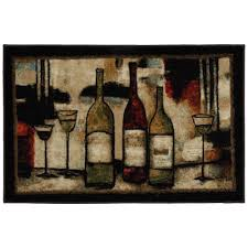 mohawk home wine and glasses 2 ft 6 in x 3 ft 10