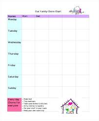 Printable Family Chore Chart Template Personalized Printable Kids Chore Chart In Free Charts Sample For 5