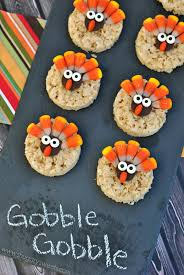 thanksgiving themed desserts. Fine Thanksgiving Turkey Rice Krispy Treats On Thanksgiving Themed Desserts 2