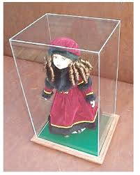 5 sided acrylic doll display cases or box any size available scroll down for example list w d h thick no u v 99 9 u v