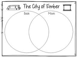 Book Vs Movie Venn Diagram The City Of Ember Book Vs Movie Graphic Organizer