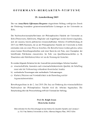 Offermann Hergarten Prize