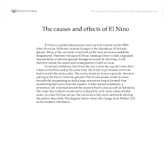 the causes and effects of el nino gcse science marked by  document image preview