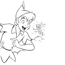 Small Picture Tinkerbell Coloring Pages Tell To Peter Pan Cartoon Coloring
