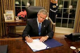 george bush oval office. President George W. Bush Signs Legislation In The Oval Office Friday, Sept.  2 George Bush Oval Office S