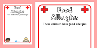 Free Pupil Food Allergies Information Poster Food